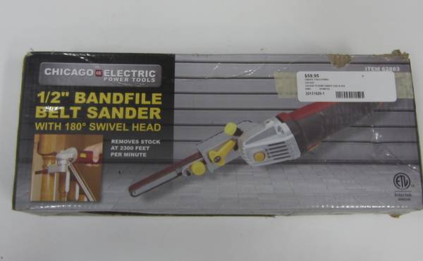 Photo Chicago Electric 12quot Bandfile Belt Sander with 180 Swivel Head - $59 (2201 East Monument St, Baltimore, Md)