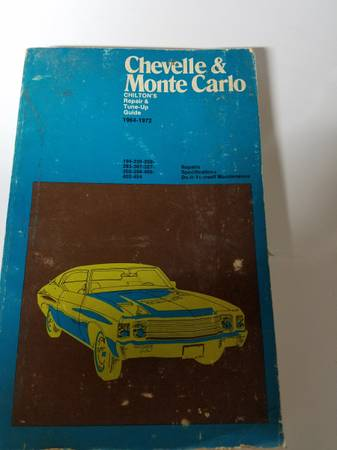 Photo Chilton Repair Tune Up guide 1964-72 Chevelle Monte Carlo - $10 (Mt Airy Md)