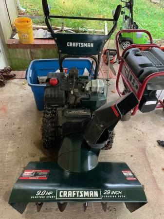 Photo Craftsman 9hp 29quot snowblower with electic start - $400 (Columbia)