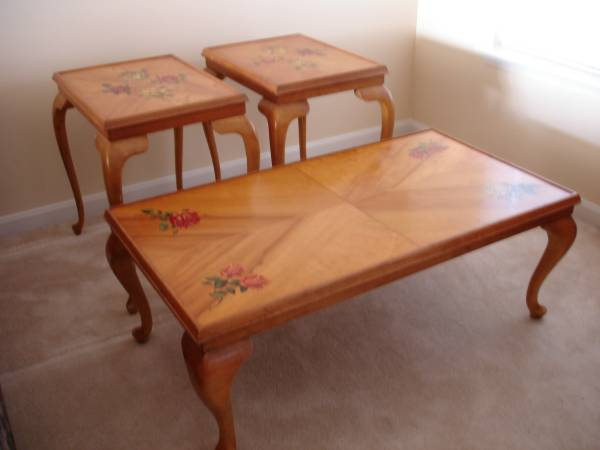 Photo Early to Mid-Century Bavarian Coffee Table and End Tables (N. Bel Air  Forest Hill, MD)