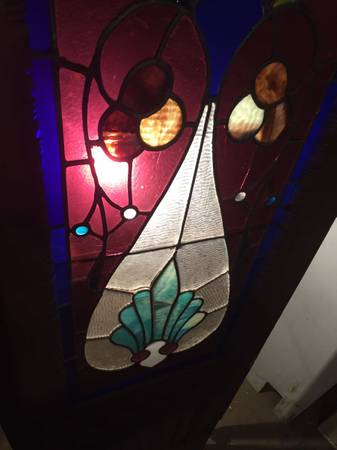 Photo Eastlake Victorian stained glass front doors - $900 (Charles Village)