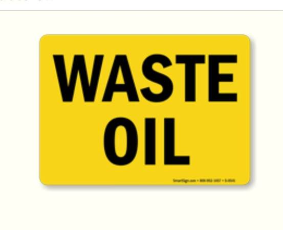 Photo FREE Waste Oil (Heavy Equipment) - 55 Gallon Drum (Westminster)