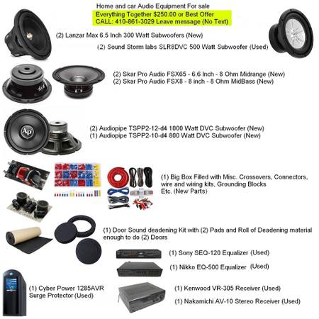 Photo Home and Car Audio Equipment for sale (Westminster)