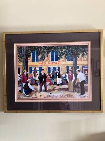 Photo Hotel Mistral  Caf La Provence Bar by Guy Buffet paintings - $75 (HAVRE DE GRACE)