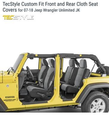 Photo Jeep Wrangler FrontRear cloth seat covers Custom Fit JKU 07-18 - $100 (ColumbiaEllicott City)