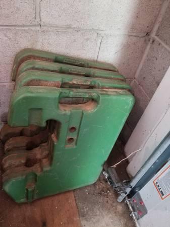Photo John deere 100lb suitcase weights - $325 (Reisterstown, md)