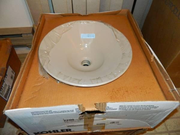 Photo Kohler Conical Bell vessel bathroom sink SANDBAR (Joppatowne md 21085)