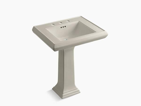 Photo Kohler Memoirs Classic Classic 27quot pedestal bathroom sink (White Marsh Md 21162)