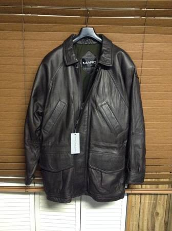 Photo Men39s Leather Jacket by Andrew Marc New York New Brown Size M - $89 (owings mills)