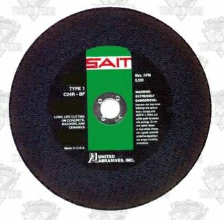 Photo SAIT 23462 12in. X 18in. X 20MM Concrete SAW CUT-OFF Blades Box 10 - $45 (Joppatowne Md 21085)