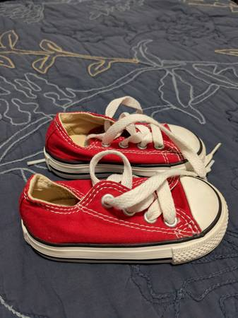 Photo Toddler Shoes Size 4 Boys Converse All Star Chuck Taylor Red Sneakers - $5 (Columbia)