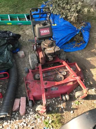 Photo Toro walk behind 52 inch Mower needs deck - $395 (White marsh)