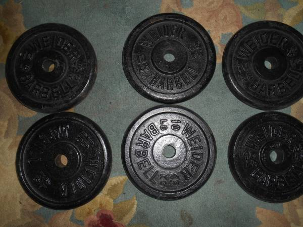 Photo WEIDER BRAND 10 POUND Standard 1quot hole weight plates - set of TWO - $38 (Columbia)