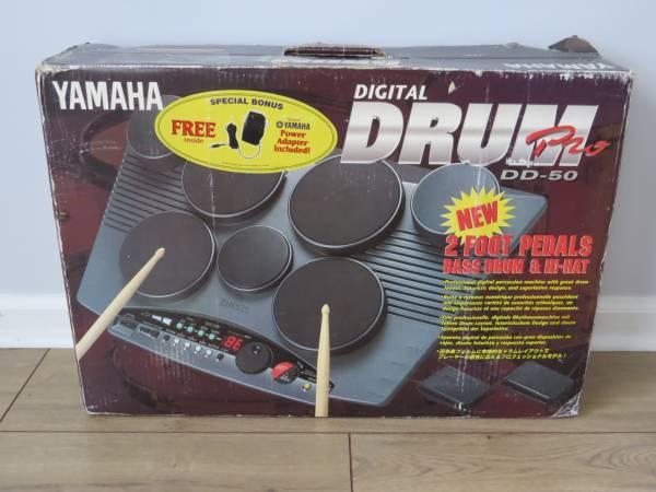 Photo YAMAHA DD-50 Digital Drum Pro w Pedals  Power Plug DD50 Electronic - $80 (Severn)