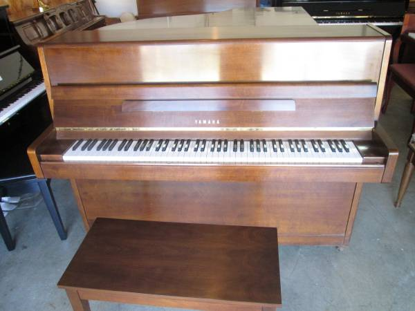 Photo Yamaha Upright Piano Model P2 Walnut satin - $2,995 (Forest Hill)