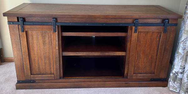 Photo Ashley Furniture Budmore 60 TV Stand Console - $150 (SW Walker)