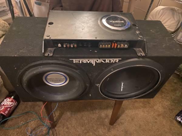 Photo Car Subs and 1200 watt true RMS Amp - $325 (Springfield)