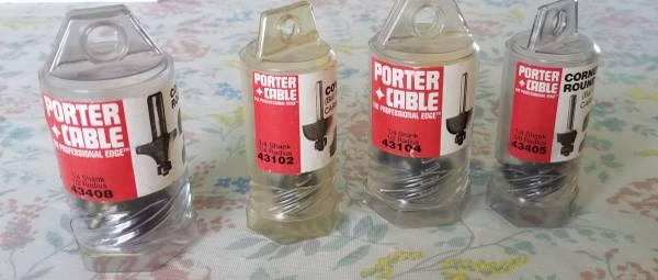Photo Porter Cable Router Bits - $40 (Grand Ledge)