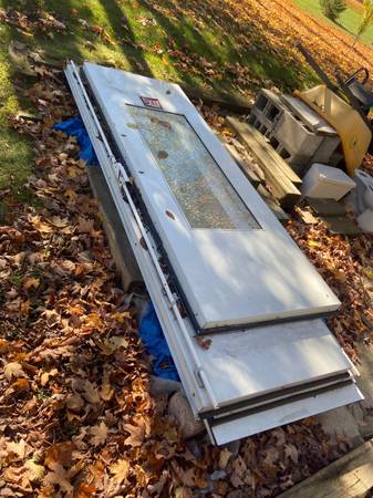 Photo Set of Doors for Autobody Paint Booth - $400 (Rockford)