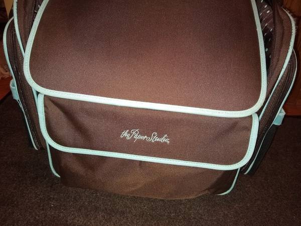 Photo The Paper Studio Rolling Tote Scrapbooking Bag With Telescoping Handle - $40 (Hudsonville)