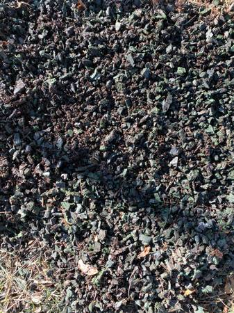 Photo 4 Yards Emerald Green Recycled Tire Mulch (CYPRESS)