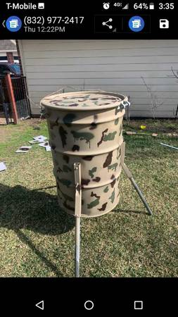 Photo 55 Gallon Metal Barrels For Deer Feeders - $35 (Downtown Cypress)