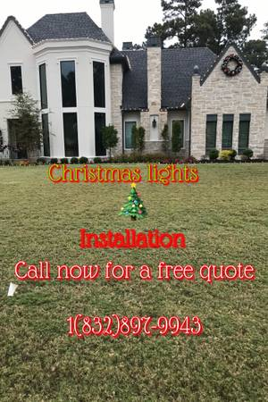 Photo Christmas lights installation - $150 (Houston and surrounding areas)
