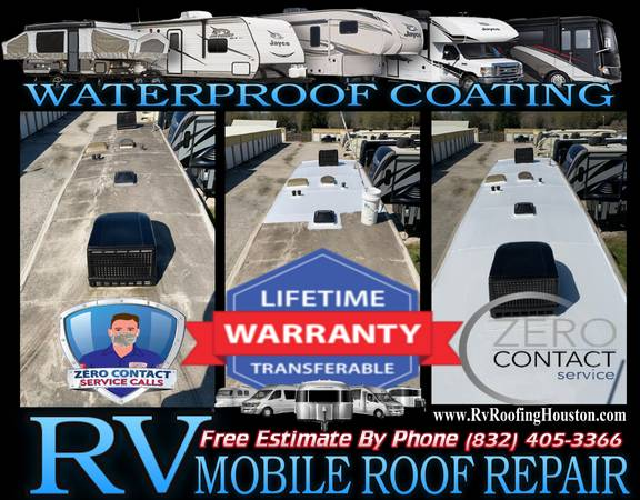 Photo RV ROOF leak REPAIR rhino RE-SEAL mobile service BEST PRICE free quote - $1 (Sugar Land)