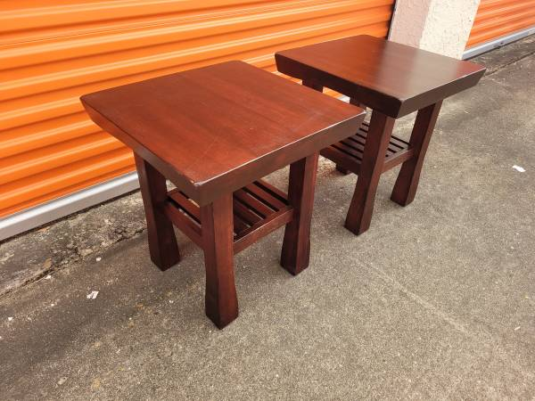Photo Set of 2 Pottery Barn Solid Wood End Tables - $125 (Galleria)