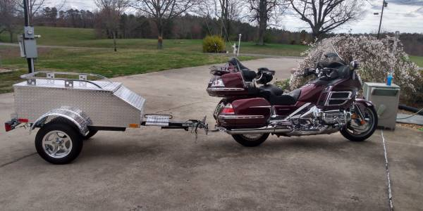 Photo 2006 Gold Wing 1800 and new diamond plate alluminum trailer - $9,450 (Valley Head)