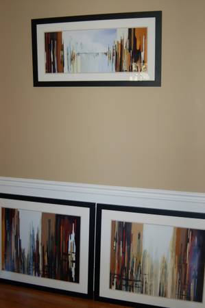 Photo 3 Piece Glass Framed Urban Abstract Set by Gregory Lang - $325