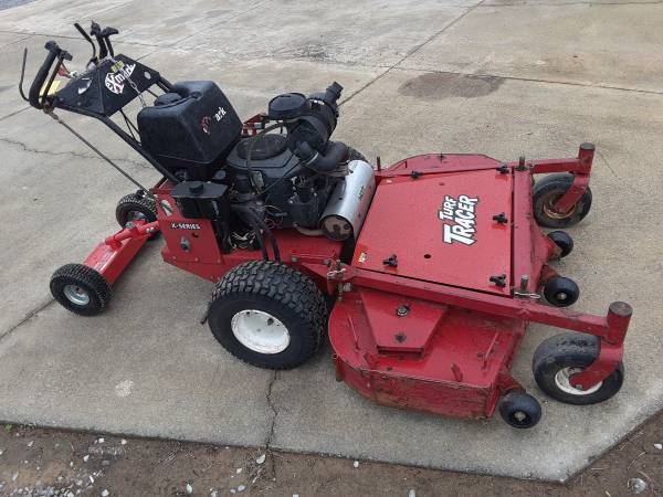 Photo 60 INCH DECK HYDRAULIC WALK BEHIND ZERO TURN MOWER EXMARK TURF TRACER - $5,000 (LEEDS)