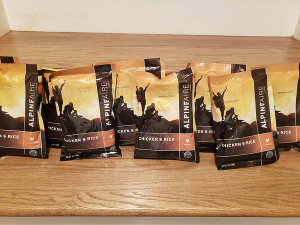 Photo Backpacking Cing Survival Meals Chicken and Rice AlpineAire 4 Packs - $20 (Vestavia Hills, AL)