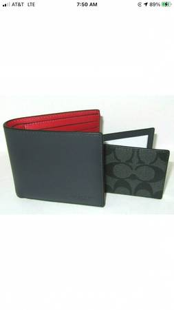 Photo Coach C4333 3 In1 Men39s Midnight Blue Red Signature Color Block Wallet - $35 (Homewood)