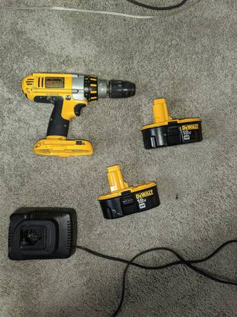 Photo DeWalt 18V Cordless 12quot Power Drill with Hammer Setting - $85 (5 Points)