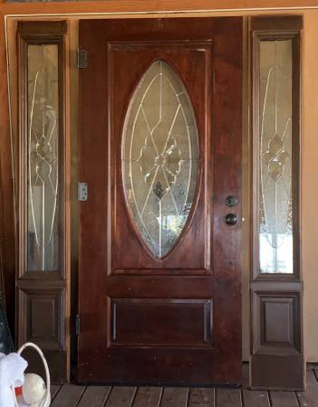 Photo Exterior door with side lights 3O - $800 (Chelsea)