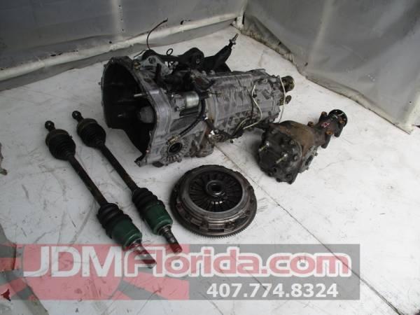 Photo JDM SUBARU FORESTER STI 6 SPEED AWD TRANSMISSION 2.5L SG9 AXLES - $3,200 (JDM FLORIDA)