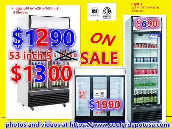 NSF One  Two  Three-door Glass Refrigerator (Restaurant Equipment) - $690 (100 new)