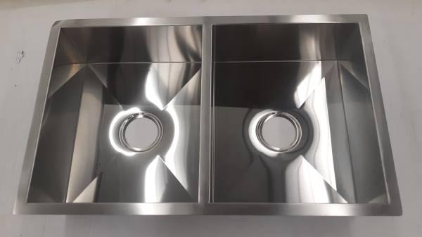 Photo New Cask Stainless Steel double bowl undermount or drop in sink - $50 (Birmingham)