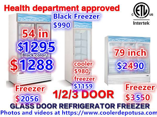 Photo Nsf One  Two  Three Glass Door Freezers  Much More  - $1,180 (100 new)