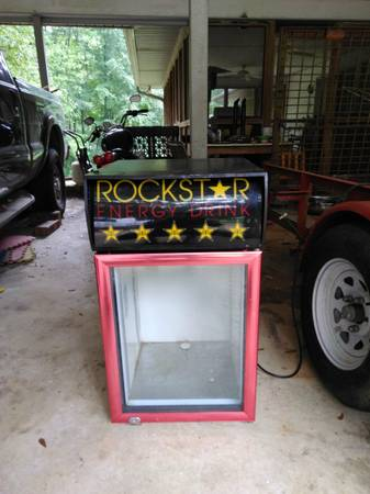 Photo Rockstar energy drink mini fridge - $150 (Trussville)