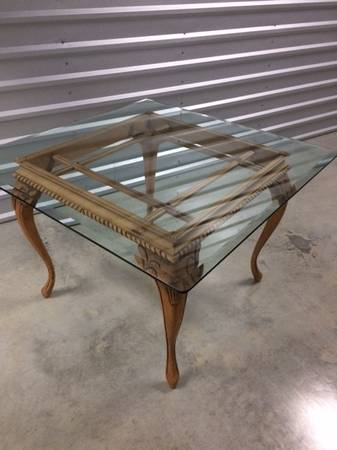Photo Tabe with beveled glass top - $90 (Liberty Park Area)