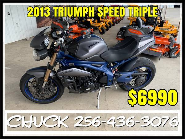 Photo USED 2013 TRIUMPH SPEED TRIPLE MOTORCYCLE FINANCING AVAILABLE - $6,990 (TUSCUMBIA)