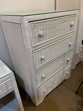 Photo White Wicker Furniture - 2 Pieces - $225 (Mountain Brook)