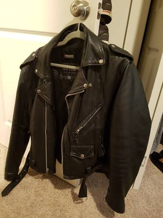 Photo Wilsons Leather Motorcycle Jacket - M - $50 (W)