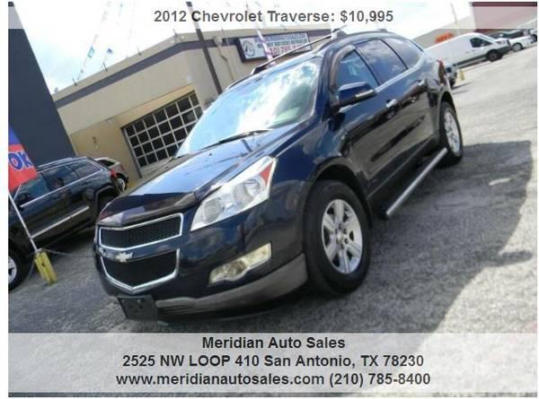 Photo 2012 CHEVROLET TRAVERSE LT 4DR, SUPER CLEAN AND NICE SUV, LOOK - $10,500 (2525 NW LOOP 410 SAN ANTONIO TX www.meridianautosales.com)