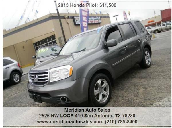 Photo 2013 HONDA PILOT EX L 4x4 4DR DRIVES GREAT, SUPER NICE SUV, LOOK - $10,995 (2525 NW LOOP 410 SAN ANTONIO TX www.meridianautosales.com)