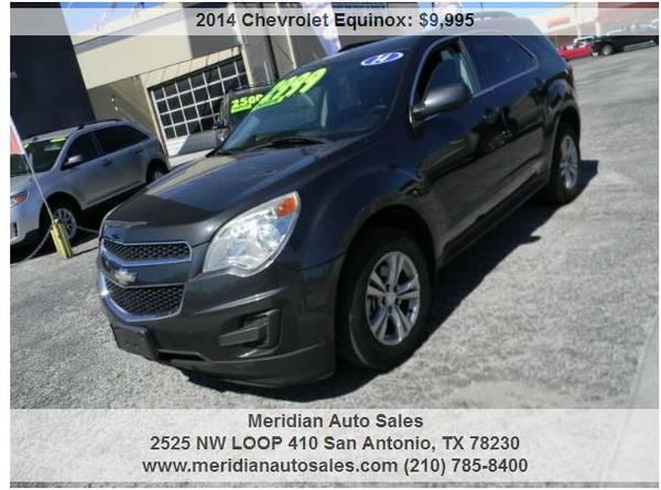 Photo 2014 CHEVROLET EQUINOX LS 4DR SUV, GREAT ECONOMIC SUV, LOOK - $9,995 (2525 NW LOOP 410 SAN ANTONIO TX www.meridianautosales.com)