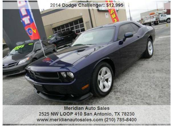 Photo 2014 DODGE CHALLENGER SXT PLUS 2DR, AWESOME SPORT CAR, LOOK - $12,495 (2525 NW LOOP 410 SAN ANTONIO TX www.meridianautosales.com)