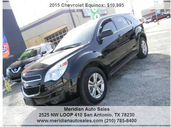 Photo 2015 CHEVROLET EQUINOX LS 4DR SUV, GREAT COMFORTABLE SUV, LOOK - $10,500 (2525 NW LOOP 410 SAN ANTONIO TX www.meridianautosales.com)